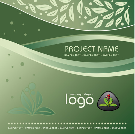 Corporate Vector Nature Template Background with Logo Stock Vector - 3381796