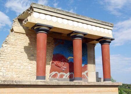 kreta: Griechenland. Knoss Palast auf der Insel Kreta