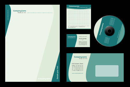 Corporate Identity Template Vector Illustration