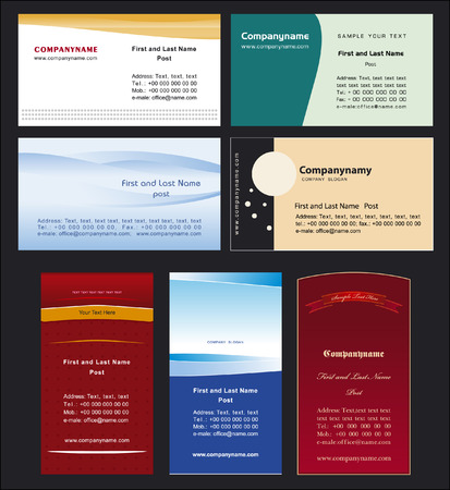 Collection business cards templates 4 Vector