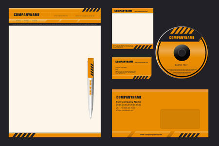 "Corporate Identity Template Vector  ""DANGER"""