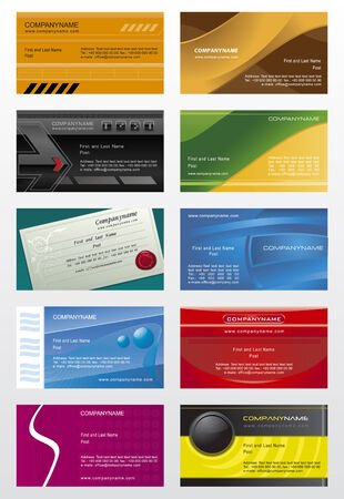 Collection business cards templates  5 Vector