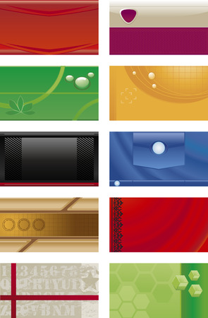 Collections backgrounds templates for business cards  6