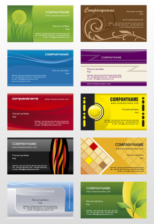 Collections backgrounds templates  for business cards  7 Vector