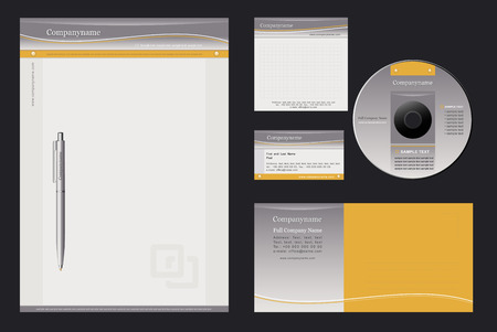 Vector background for  letterhead, pen, business card; note-paper; cover CD, envelope.
