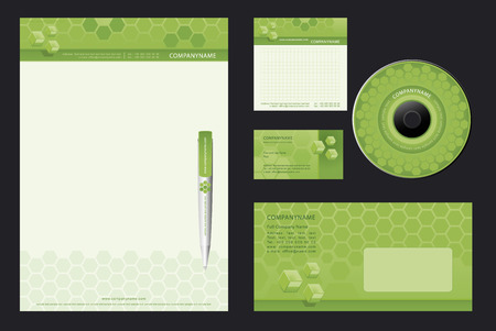 Corporate Identity Template Vector  - blank, card, pen, cd, note-paper, envelope Vector