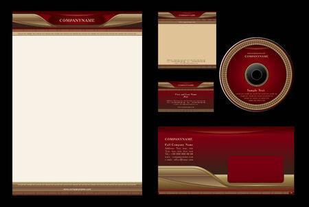 carta da lettere: Modello lusso vettoriale sfondo per casin�, ristorante, hotel - bianco, carta, cd, nota-carta, busta Vettoriali