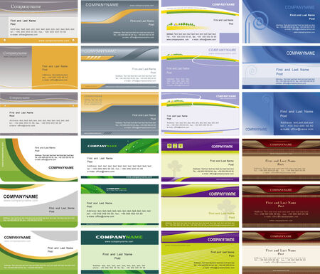 Collection horizontal business cards Illustration