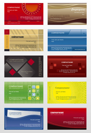 abstract logos: Collection background for business cards Illustration