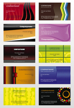 Collection  background for horizontal business cards Illustration