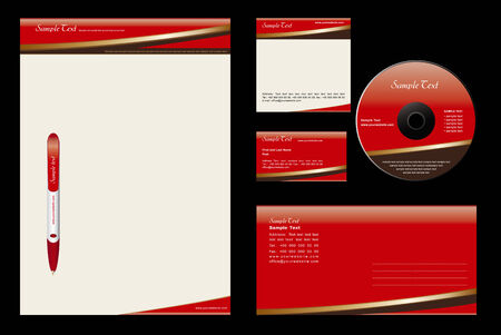 Gold Chocolate  - template background (blank, card, cd, note-paper, envelope, pen) Vector