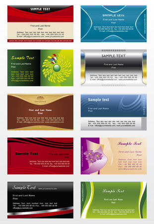 Collection vector background for horizontal business cards  Vector