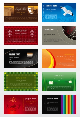 Collection background for business cards  Vector