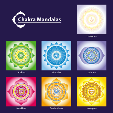 chakra symbols: Chakra Symbol Mandalas for Meditation  to Facilitate Growth and Healing