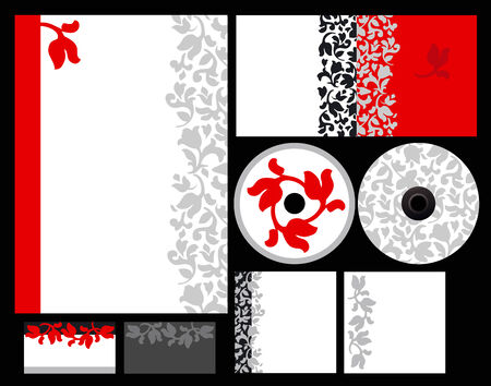 Elegant template background for hotel or restaurant (blank, card, cd, note-paper, cover, pen)