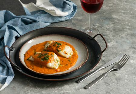 spanish food, Bacalao a la vizca?na, Basque Style Cod