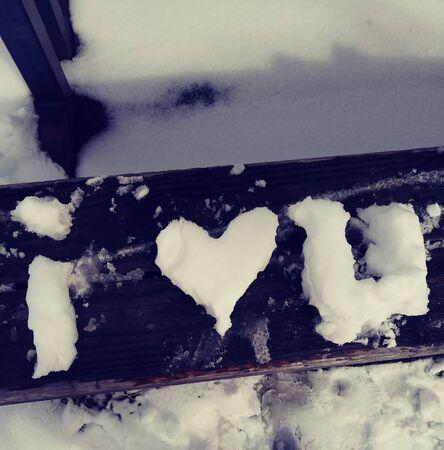 I love you snow