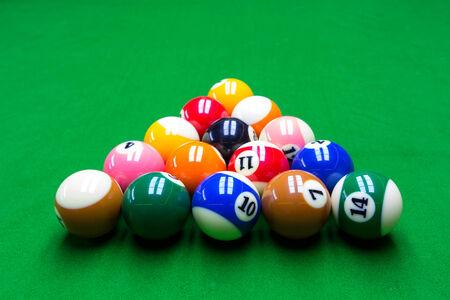 9 ball billiards: Billiard close up