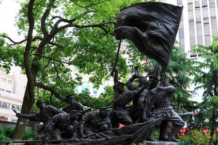 uprising: Sculpture in the Bayi Nanchang uprising memorial hall