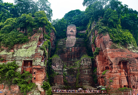 historical sites: The Leshan giant Buddha Stock Photo