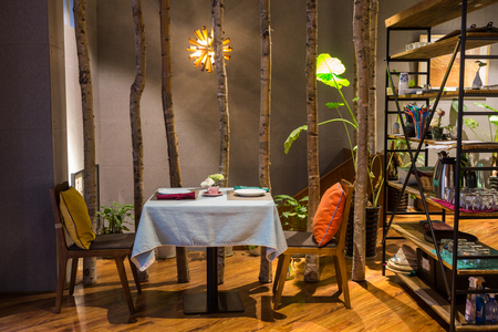 room decoration: Interior design and decorations of a cafe