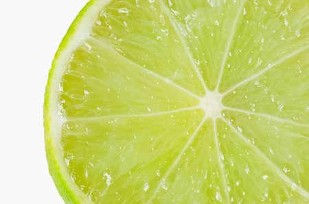 close up lemon isolated