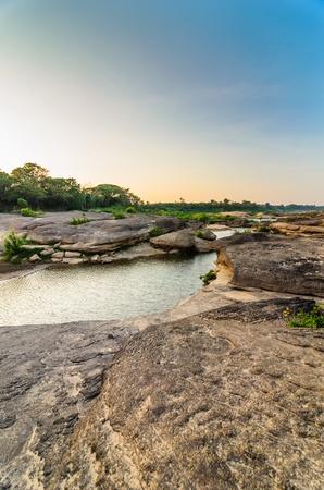 unsheathing: Sampanbok in Mekong River, Ubon Ratchathani  Grand canyon in Thailand Stock Photo