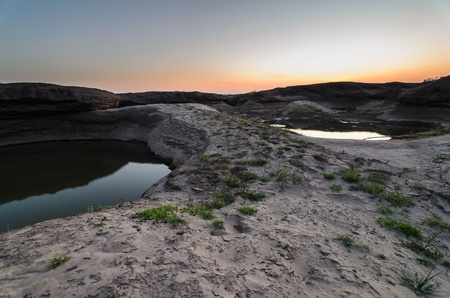 pond in Sampanbok , in Mekong River, Ubon Ratchathani. Grand canyon in Thailand Stock Photo - 15657132