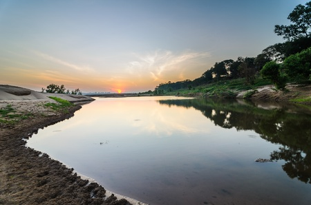 pond in Sampanbok , in Mekong River, Ubon Ratchathani. Grand canyon in Thailand Stock Photo - 15657110