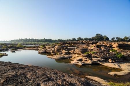 unsheathing: pond in Sampanbok , in Mekong River, Ubon Ratchathani  Grand canyon in Thailand