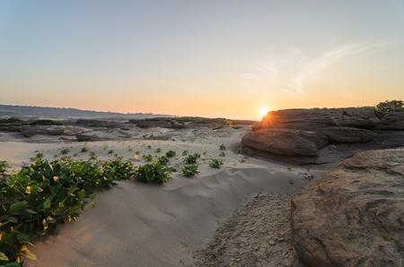 unsheathing: Sampanbok in Mekong River, Ubon Ratchathani. Grand canyon in Thailand