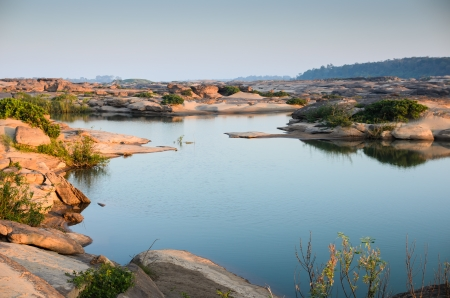 pond in Sampanbok , in Mekong River, Ubon Ratchathani. Grand canyon in Thailand Stock Photo