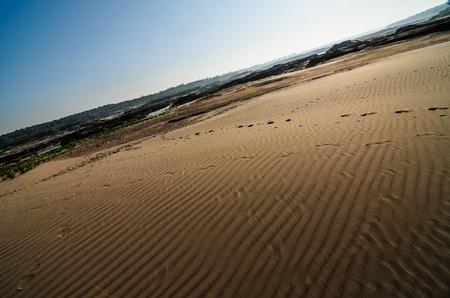 unsheathing: sand in Sampanbok in Mekong River, Ubon Ratchathani. Grand canyon in Thailand