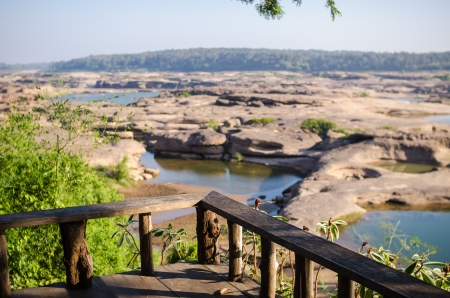 Sampanbok in Mekong River, Ubon Ratchathani. Grand canyon in Thailand