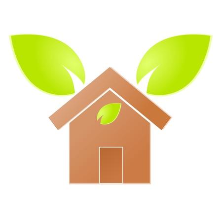 Environment home icon or logo green ecology Stock Vector - 17242179