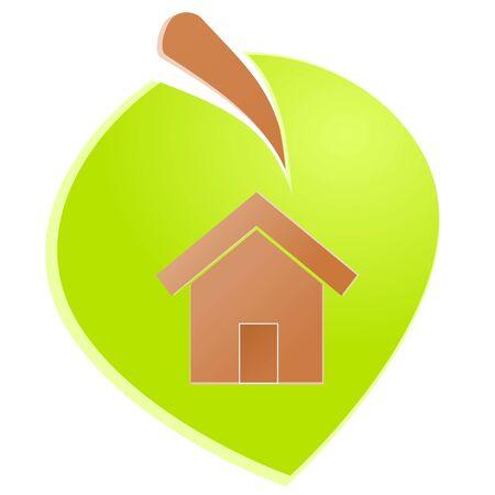 Environment home icon or logo green ecology Stock Vector - 17242182