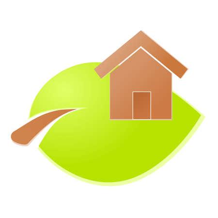 Environment home icon or logo green ecology Stock Vector - 17242181