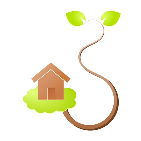 Environment home icon or logo green ecology Stock Vector - 17242186