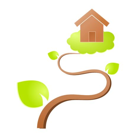 Environment home icon or logo green ecology Stock Vector - 17242187