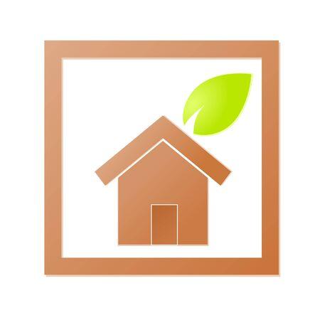 Environment home icon or logo green ecology Stock Vector - 17242184