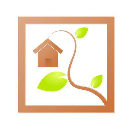 Environment home icon or logo green ecology Stock Vector - 17242190