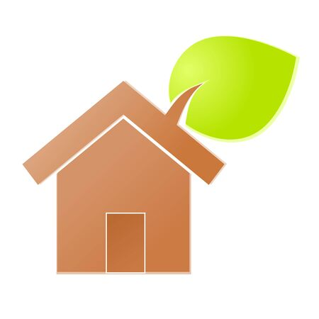 Environment home icon or logo green ecology Stock Vector - 17242180