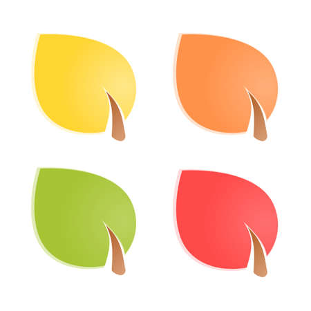 Colorful leaves  Vector illustration Stock Vector - 17242183