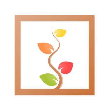 Tree green nature logo vector illustration