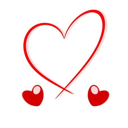 Heart love concept illustration