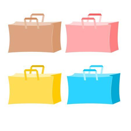 Colorful paper bag environment concept illustration Vector