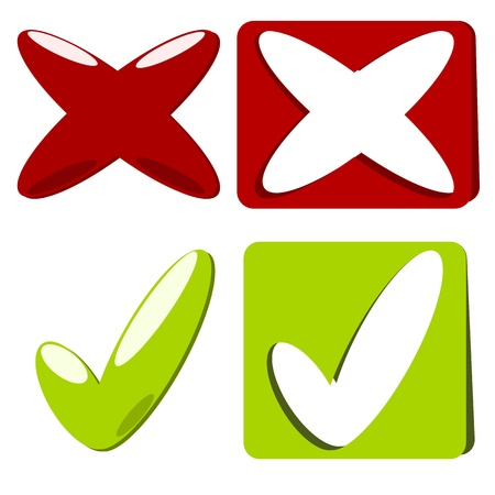 reject: Approved and rejected or accept and reject illustration