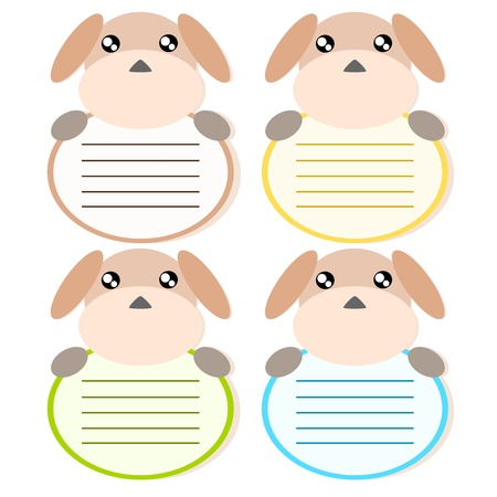 Cartoon dog memo or note cute concept illstration Stock Vector - 17718834