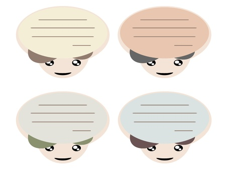 Note or memo in head cartoon fun concept illustration Stock Vector - 17718792