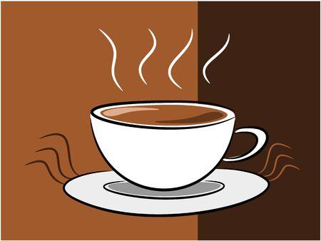 break in: Caf� s�mbolo en la ilustraci�n descanso concepto de tiempo